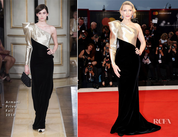 3691a1d851f Cate Blanchett In Armani Privé - 'Suspiria' Venice Film Festival Premiere.  When it comes to red carpet style ...