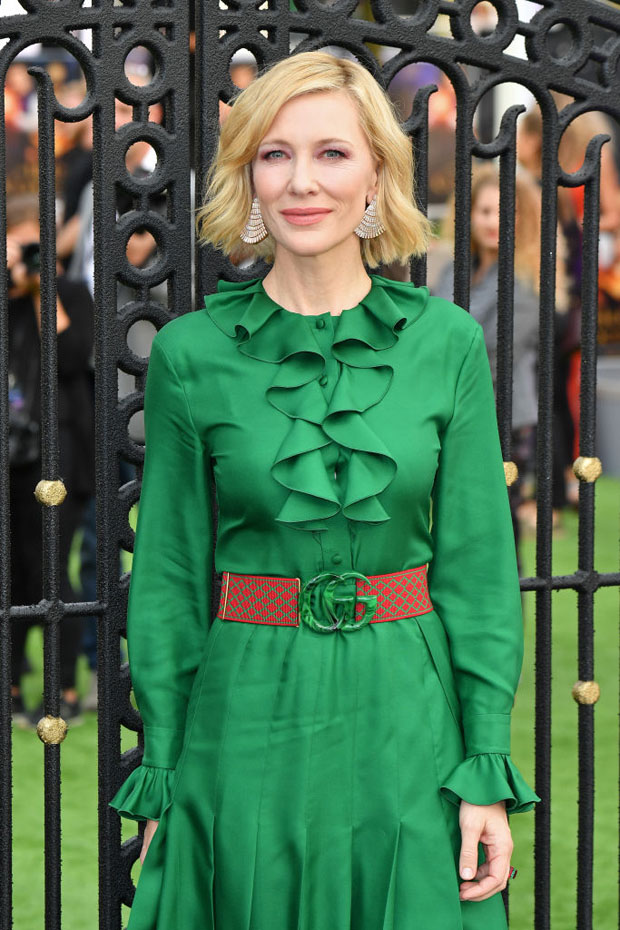 Cate Blanchett In Gucci - 'The House With The Clock In Its Walls' World Premiere