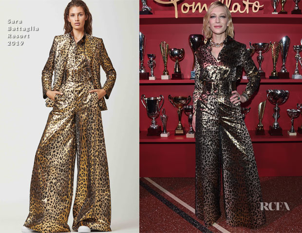 Cate Blanchett In Sara Battaglia - The Pomellato Balera Party Event