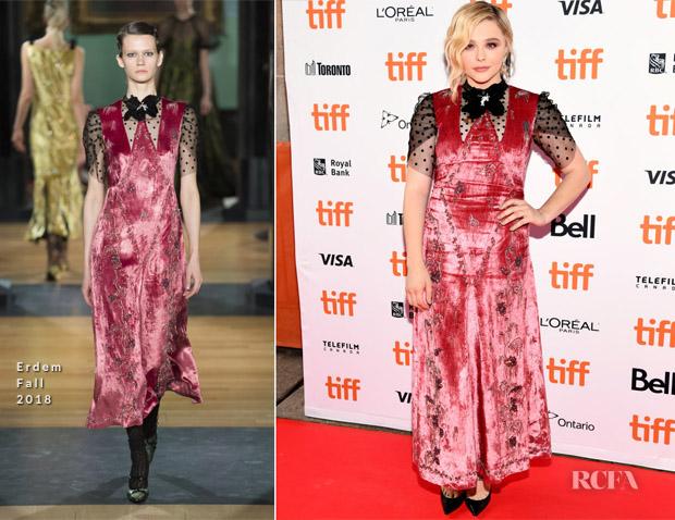 Chloe Grace Moretz In Erdem - 'Greta' Toronto International Film Festival Premiere