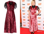 Chloe Grace Moretz's Erdem Pembroke Crystal-Embellished Velvet Dress