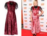 Chloe Grace Moretz's Erdem Pembroke Crystal-Embellished Velvet Dress