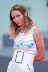 Christa Théret In Chanel - Doubles Vies (Non Fiction) Venice Film Festival Photocall & Premiere