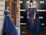 Christian Serratos In Galia Lahav - 'The Walking Dead' Season 9 Premiere