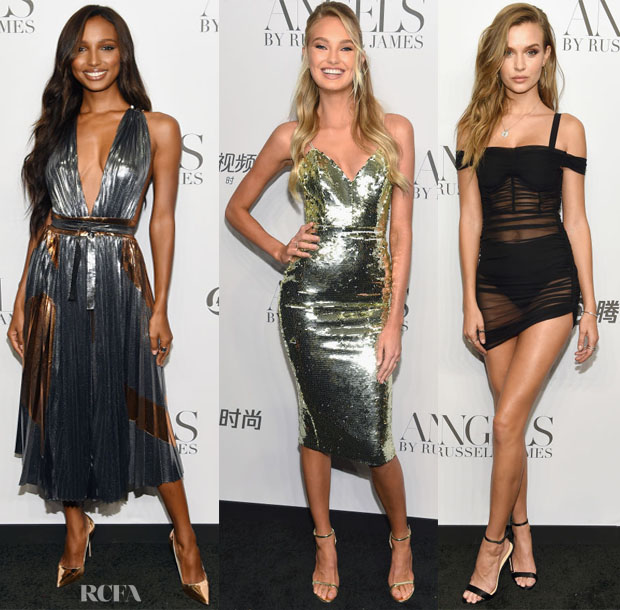 Cindy Crawford And Candice Swanepoel Host 'ANGELS' By Russell James Book Launch And Exhibit
