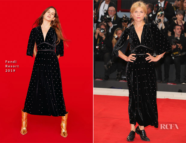 Clemence Poesy In Fendi - 'A Star Is Born' Venice Film Festival Premiere