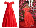 Condola Rashad's Carolina Herrera Off-The-Shoulder Gown