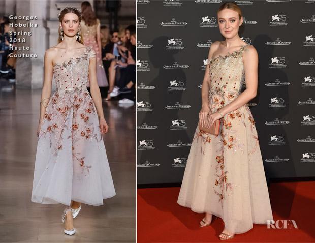 Dakota Fanning In Georges Hobeika Haute Couture - Jaeger-LeCoultre Gala Dinner