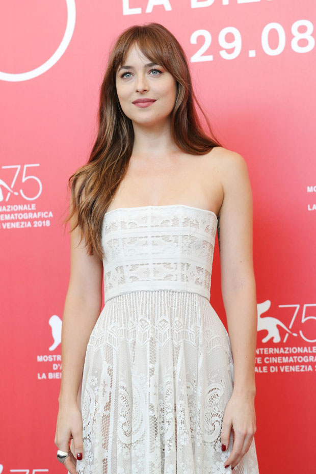 Dakota Johnson In Christian Dior - 'Suspiria' Venice Film Festival Photocall