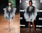Danai Gurira In Iris van Herpen Haute Couture - Premiere Of AMC's 'The Walking Dead' Season 9