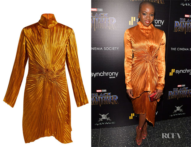 Danai Gurira's Sies Marjan Ida pleated satin dress