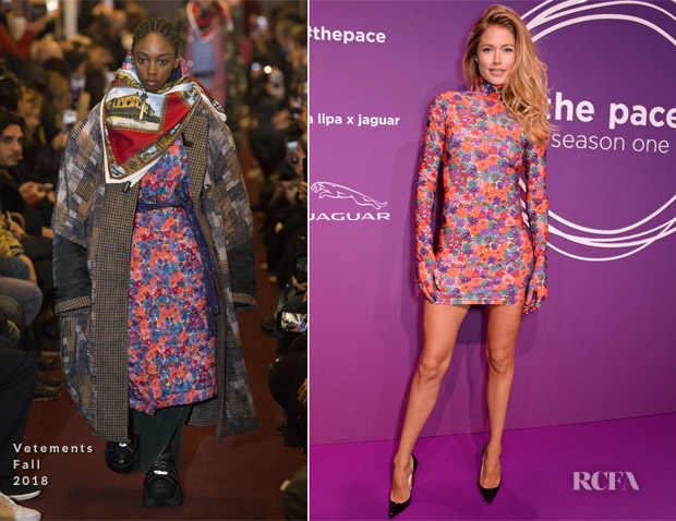 Doutzen Kroes In Vetements - Dua Lipa x Jaguar Press Conference