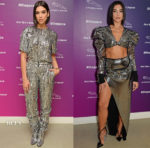 Dua Lipa In Alberta Ferretti & Balmain - Jaguar Press Conference