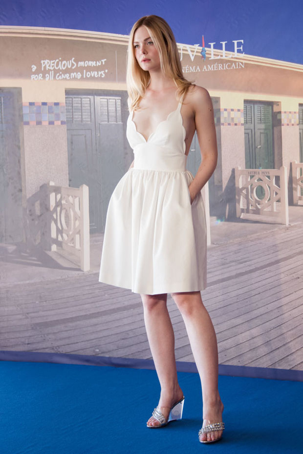 Elle Fanning In Miu Miu - 'Galvetstone' Deauville American Film Festival Photocall