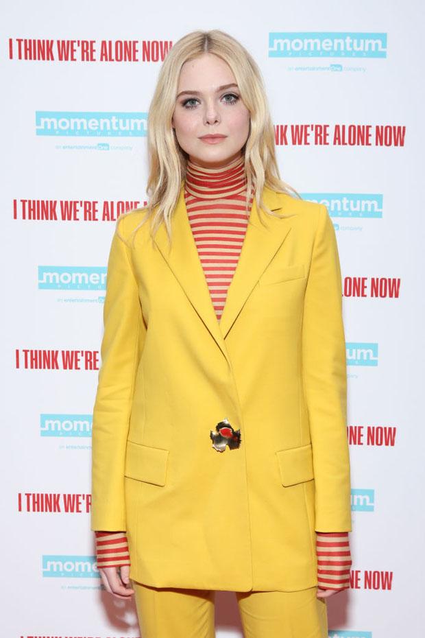 Elle Fanning In Oscar de la Renta - 'I Think We're Alone Now' New York Screening