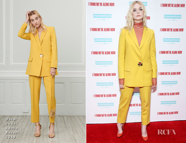 Elle Fanning In Oscar de la Renta - 'I Think We're Alone Now' New York Screening
