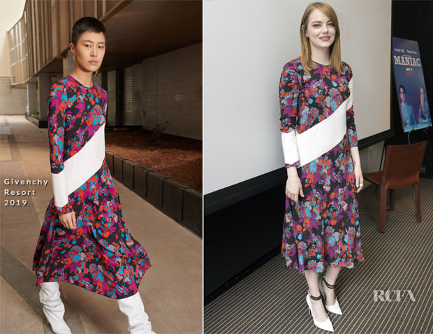 Emma Stone In Givenchy - 'Maniac' Press Conference