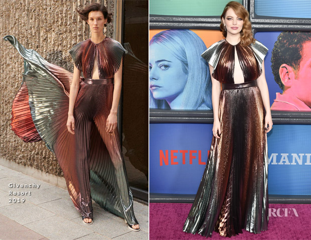 Emma Stone In Givenchy - Netflix Original Series 'Maniac' New York Premiere