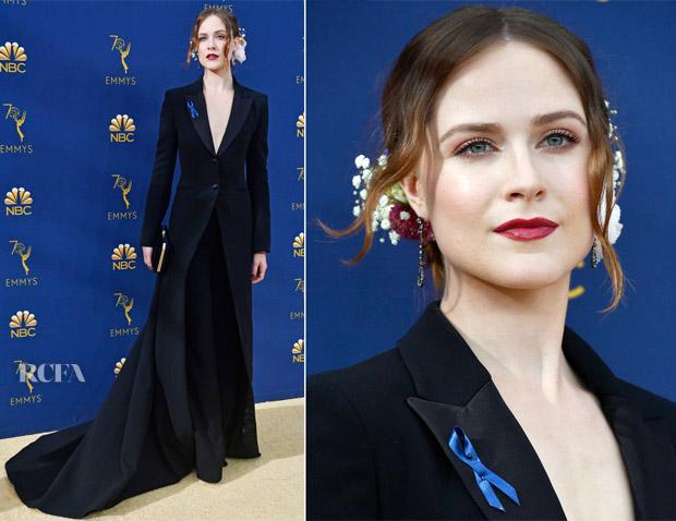 Evan Rachel Wood In Altuzarra - 2018 Emmy Awards