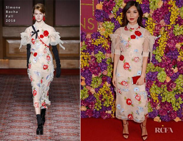 Gemma Chan In Simone Rocha - 'Crazy Rich Asians' London Screening