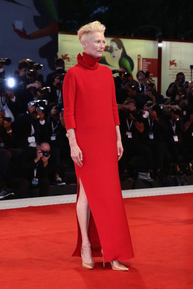Tilda Swinton In Haider Ackermann - 'Suspiria' Venice Film Festival Premiere
