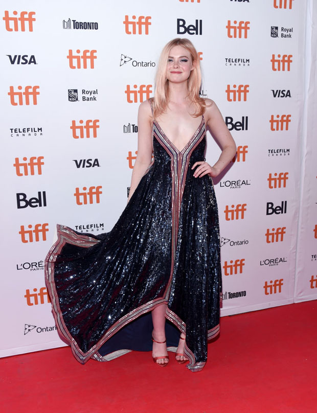 Elle Fanning In Valentino - 'Teen Spirit' 'Greta' Toronto International Film Festival Premiere