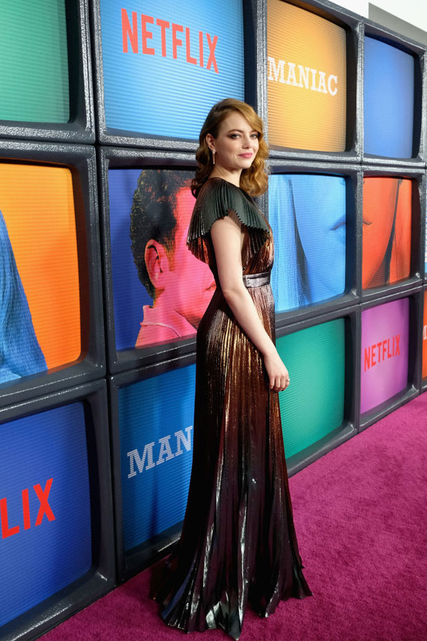 Emma Stone In Givenchy - Netflix Original Series 'Maniac' New York Premiere
