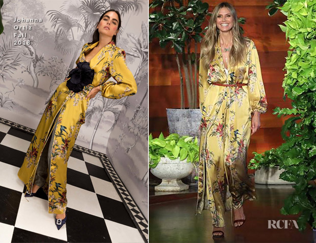 Heidi Klum In Johanna Ortiz The Ellen Degeneres Show Red Carpet Fashion Awards