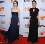 Hilary Swank In Prada & Taissa Farmiga In Miu Miu - 'What They Had' Toronto International Film Festival Premiere