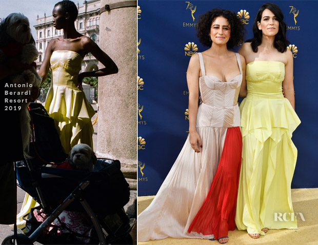 Ilana Glazer In Bibhu Mohapatra & Abbi Jacobson In Antonio Berardi - 2018 Emmy Awards