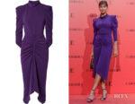 Irina Shayk's Isabel Marant Tizy Ruched Dress