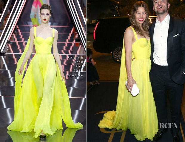 Jessica Biel In Ralph & Russo Couture - 2018 Emmy Awards After-Parties
