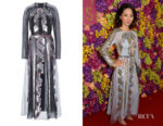 Jing Lusi's Temperley London Insignia Cut-Out Dress
