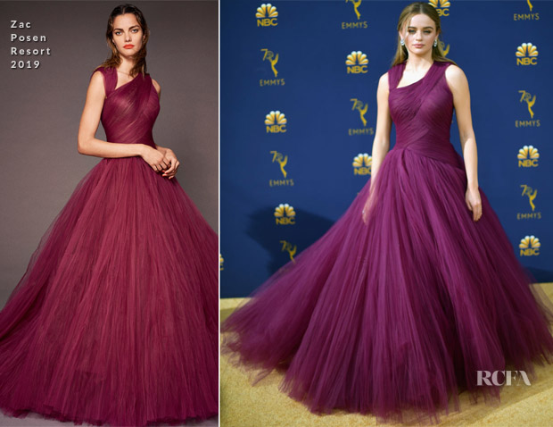 Joey King In Zac Posen - 2018 Emmy Awards