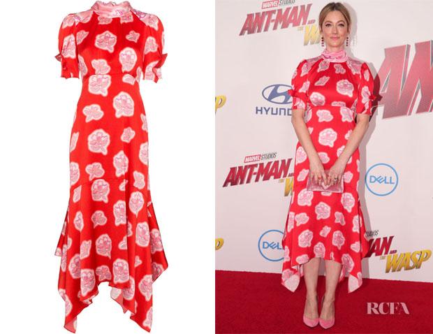 Judy Greer's Peter Pilotto Printed Midi Dress