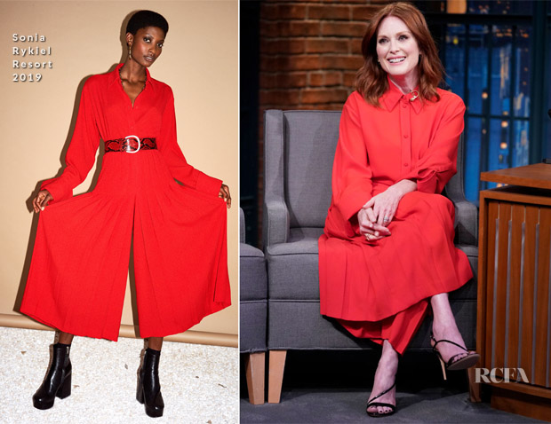 Julianne Moore In Sonia Rykiel - Late Night with Seth Meyers