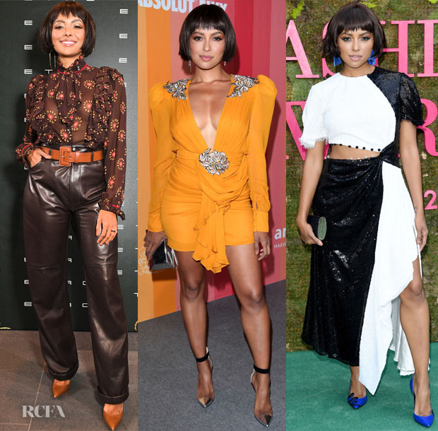 Kat Graham In Etro, Dundas & Prabal Gurung - Milan Fashion Week Events