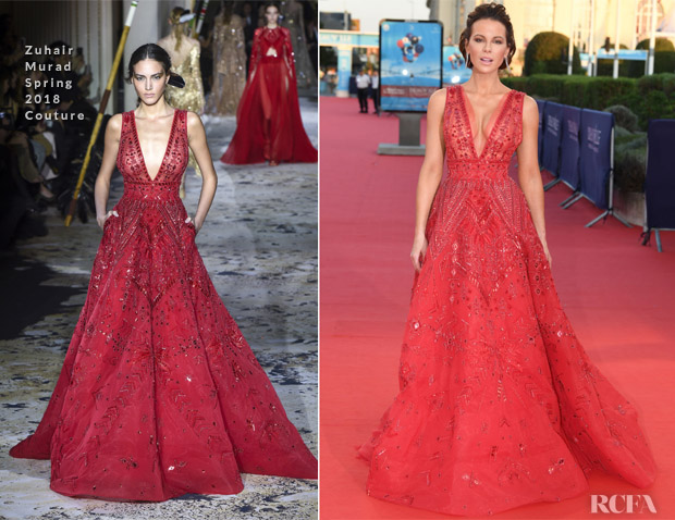 Kate Beckinsale In Alpha & Omega and Zuhair Murad Couture - 2018 Deauville American Film Festival