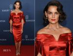 Katie Holmes In Zac Posen - Harry Winston Unveils 'New York Collection'