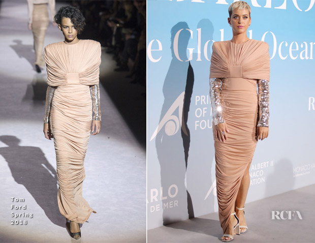 Katy Perry In Tom Ford - Monte-Carlo Gala for the Global Ocean 2018