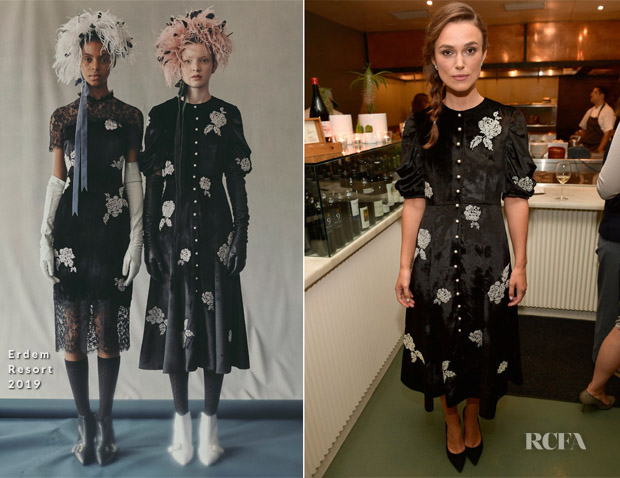 Keira Knightley In Erdem - Hollywood Reporter Party
