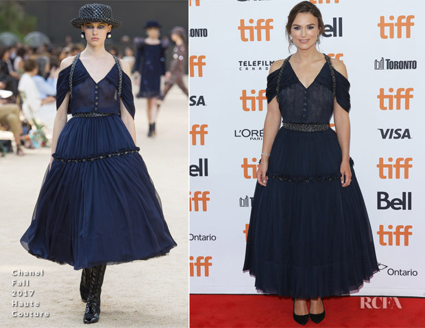 Keira Knightley In Chanel Haute Couture - 'Colette' Toronto International Film Festival Premiere