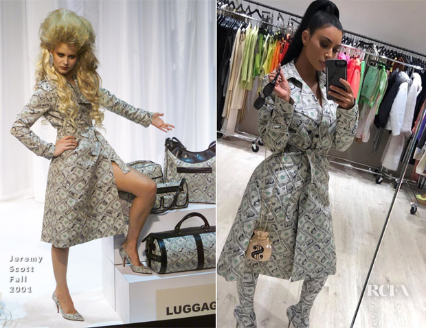 Kim Kardashian In Jeremy Scott - Instagram