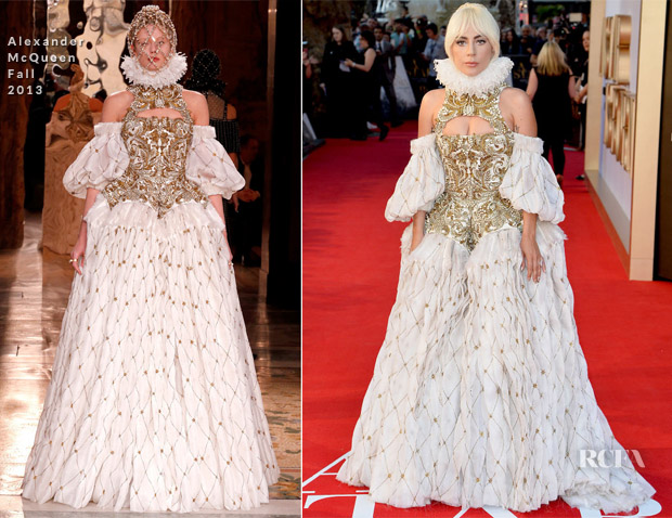 Lady Gaga In Alexander McQueen - 'A Star Is Born' London Premiere