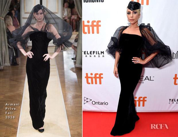 Lady Gaga In Armani Prive 'A Star Is Born' Toronto International Film Festival premiere