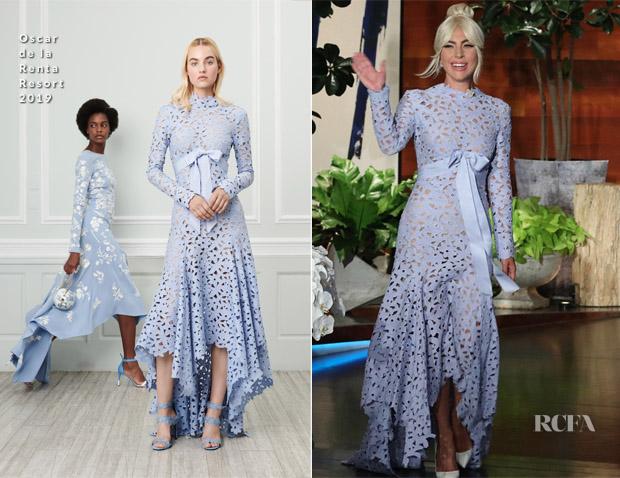 Lady Gaga In Oscar de la Renta -  The Ellen DeGeneres Show