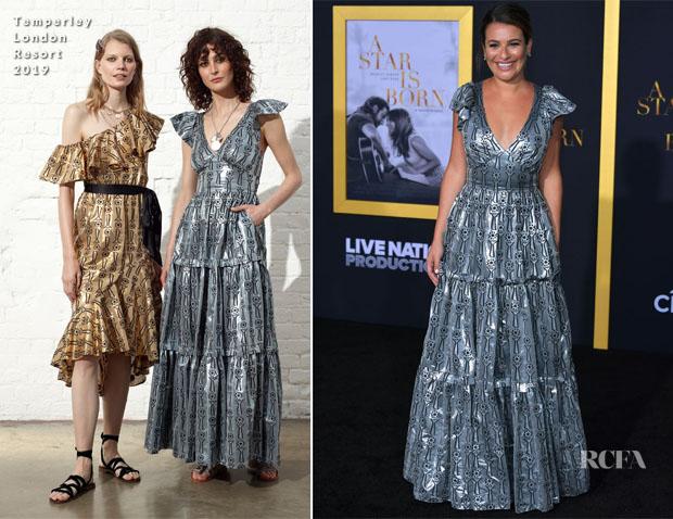 Lea Michele In Temperley London - 'A Star Is Born' LA Premiere
