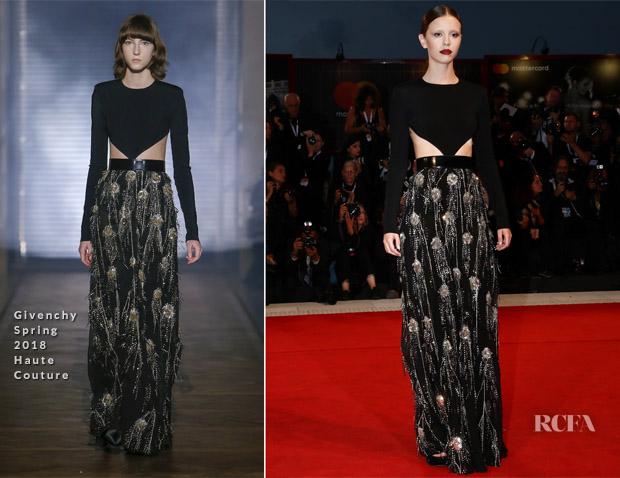 Mia Goth In Givenchy Haute Couture - 'Suspiria' Venice Film Festival Premiere