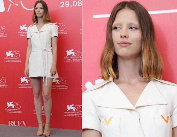 Mia Goth In Valentino - 'Suspiria' Venice Film Festival Photocall