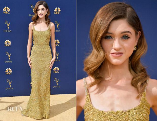 Natalia Dyer In Dolce & Gabbana - 2018 Emmy Awards